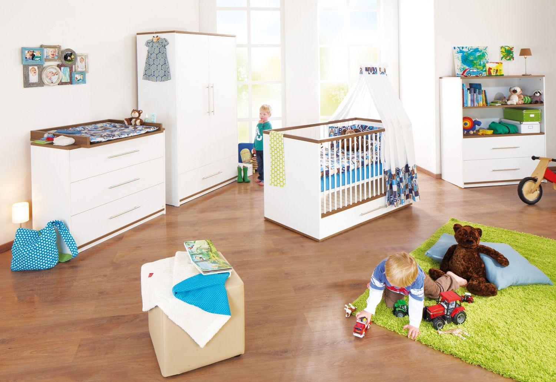 Babyzimmer Nussbaum ~ Komplett kinderzimmer sigikid groß 3 tlg. kinderbett