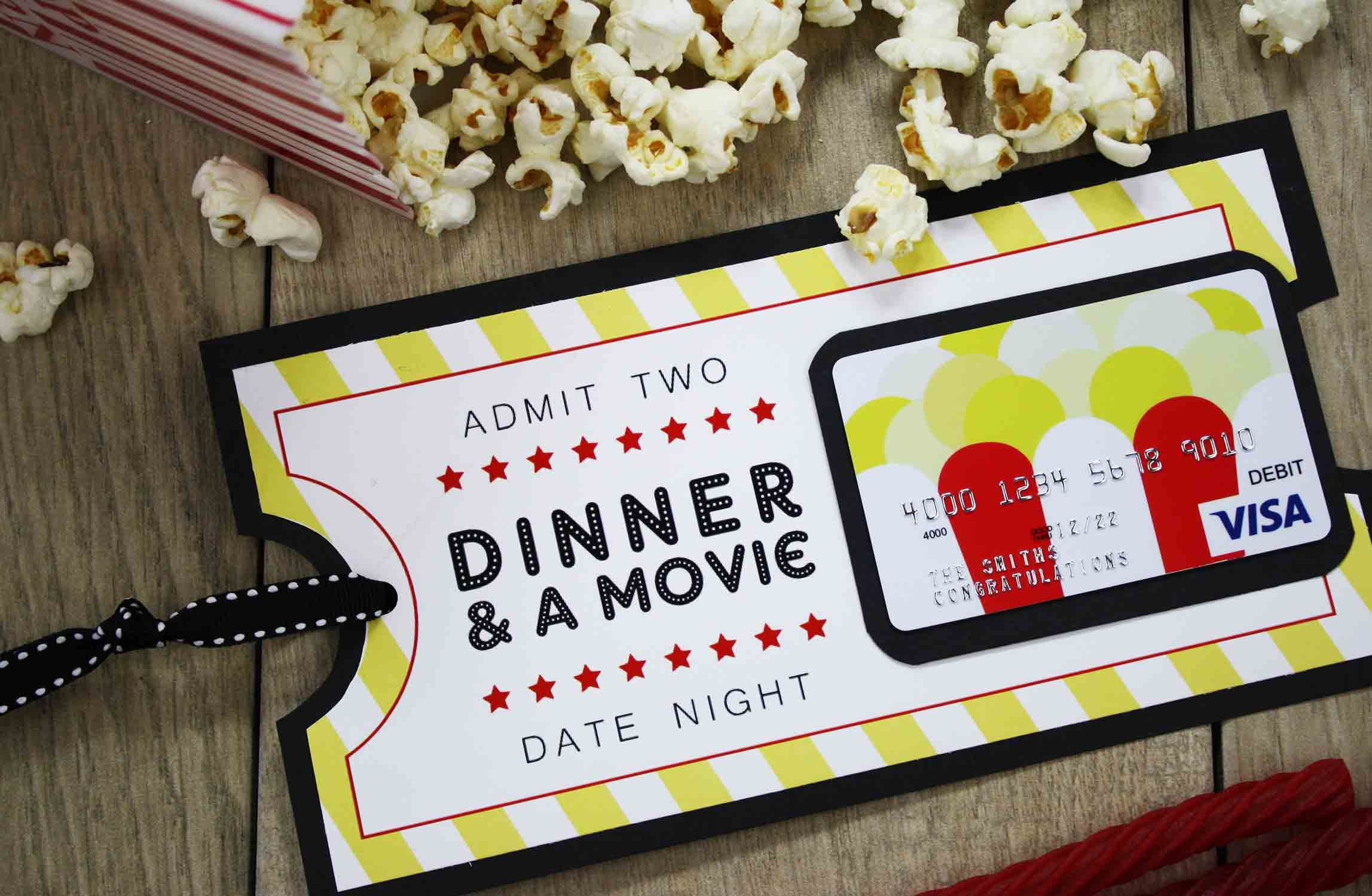 {Free Printable} Give DATE NIGHT for a Wedding Gift Date