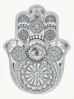 Coloring page for adults coloring pages for adults - Coloriage main de fatma ...
