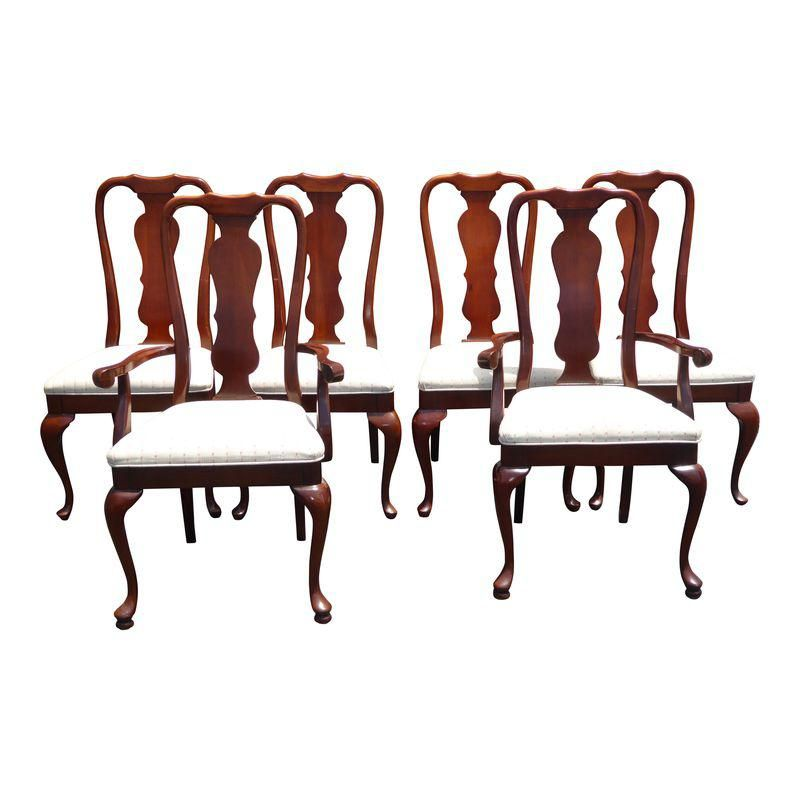 Vintage American Of Martinsville Queen Anne Style Dining Chairs