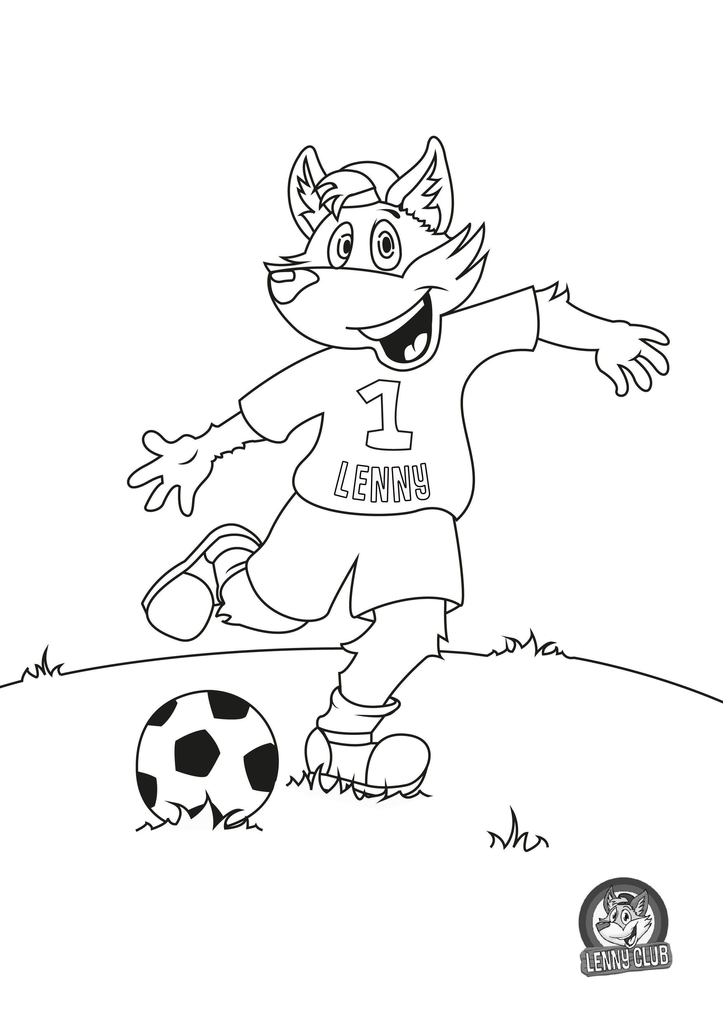 Kleurplaten Voor Volwassenen Voetbal.Lenny Kleurplaat Voetbal Kleurplaten Character Snoopy En