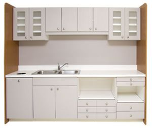 Sterilization Cabinet For Dental Clinics With Sink Pueblo Dentist S Choice Cabinetry