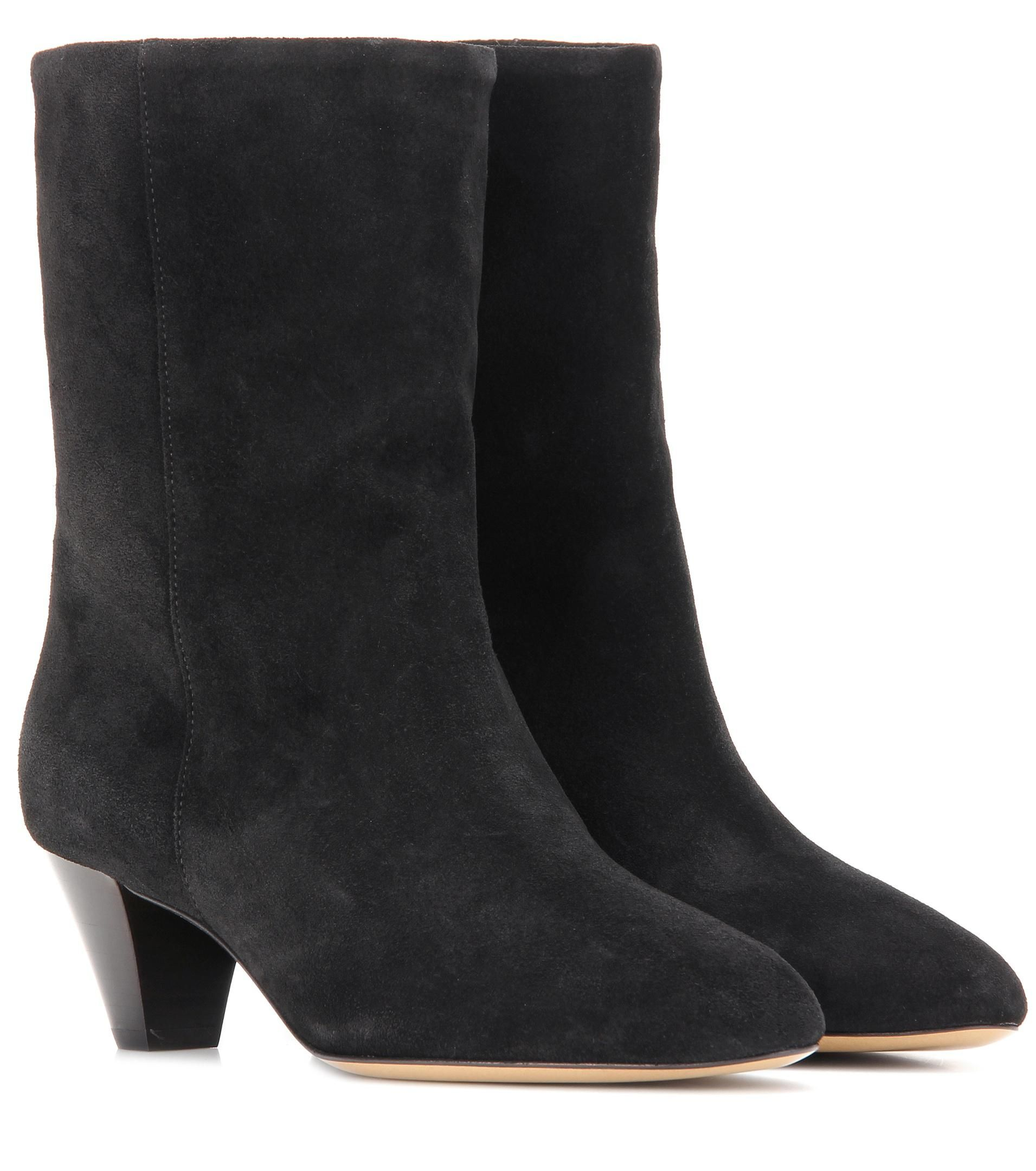 464a72eb236 Women's Black Dyna Suede Boots | mid-calf boots | Boots, Black suede ...