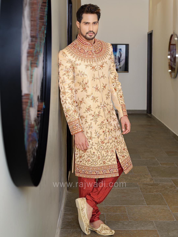 Designer art silk sherwani rajwadi designer exclusive trendy