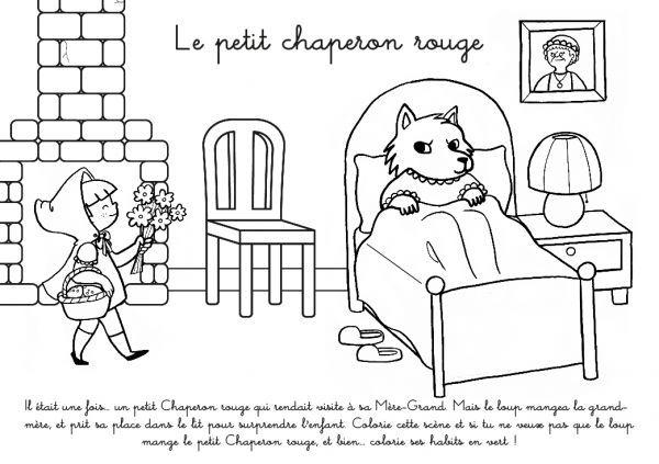 Coloriage à Imprimer Le Petit Chaperon Rouge Petit Chaperon