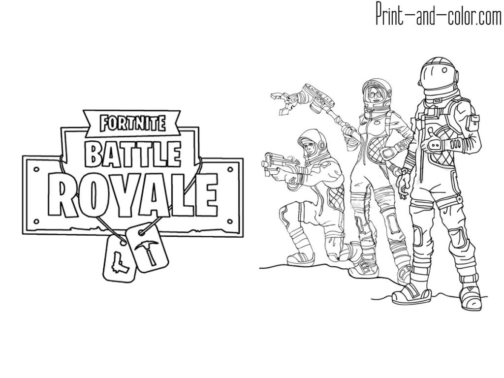 Fortnite Battle Royale Coloring Page Squad