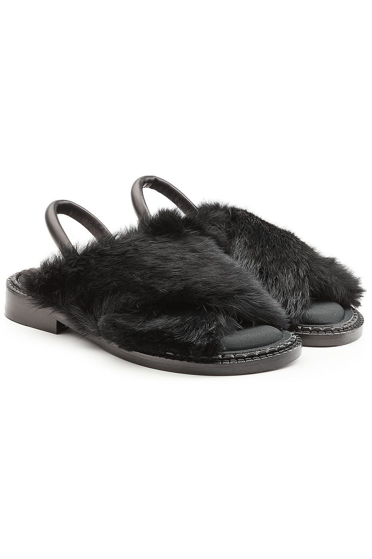 Robert Clergerie Leather Sandals with Rabbit Fur Outlet With Paypal Cheap Clearance Store Order KbX1y