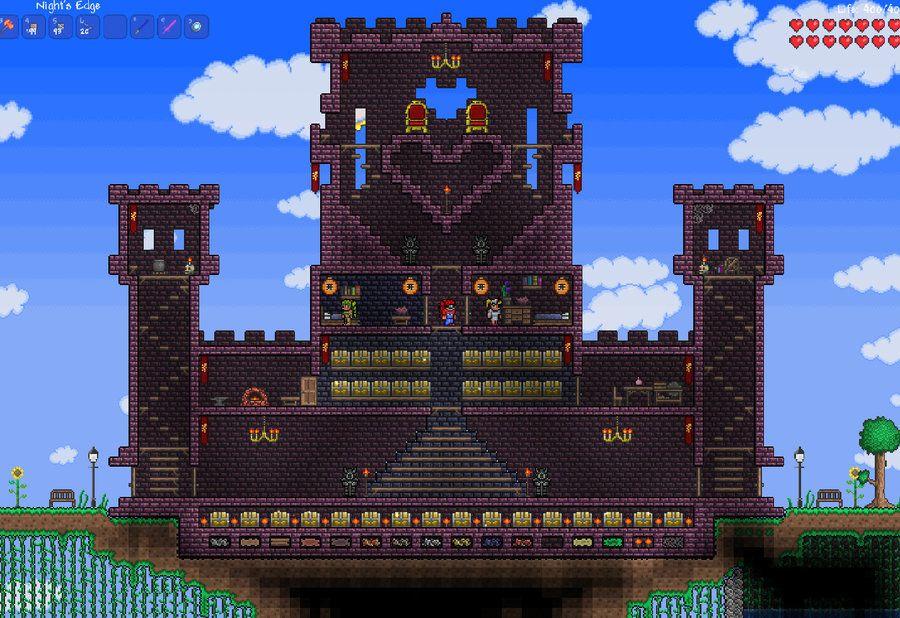 Terraria Castle By Lillamow Deviantart Com On Deviantart