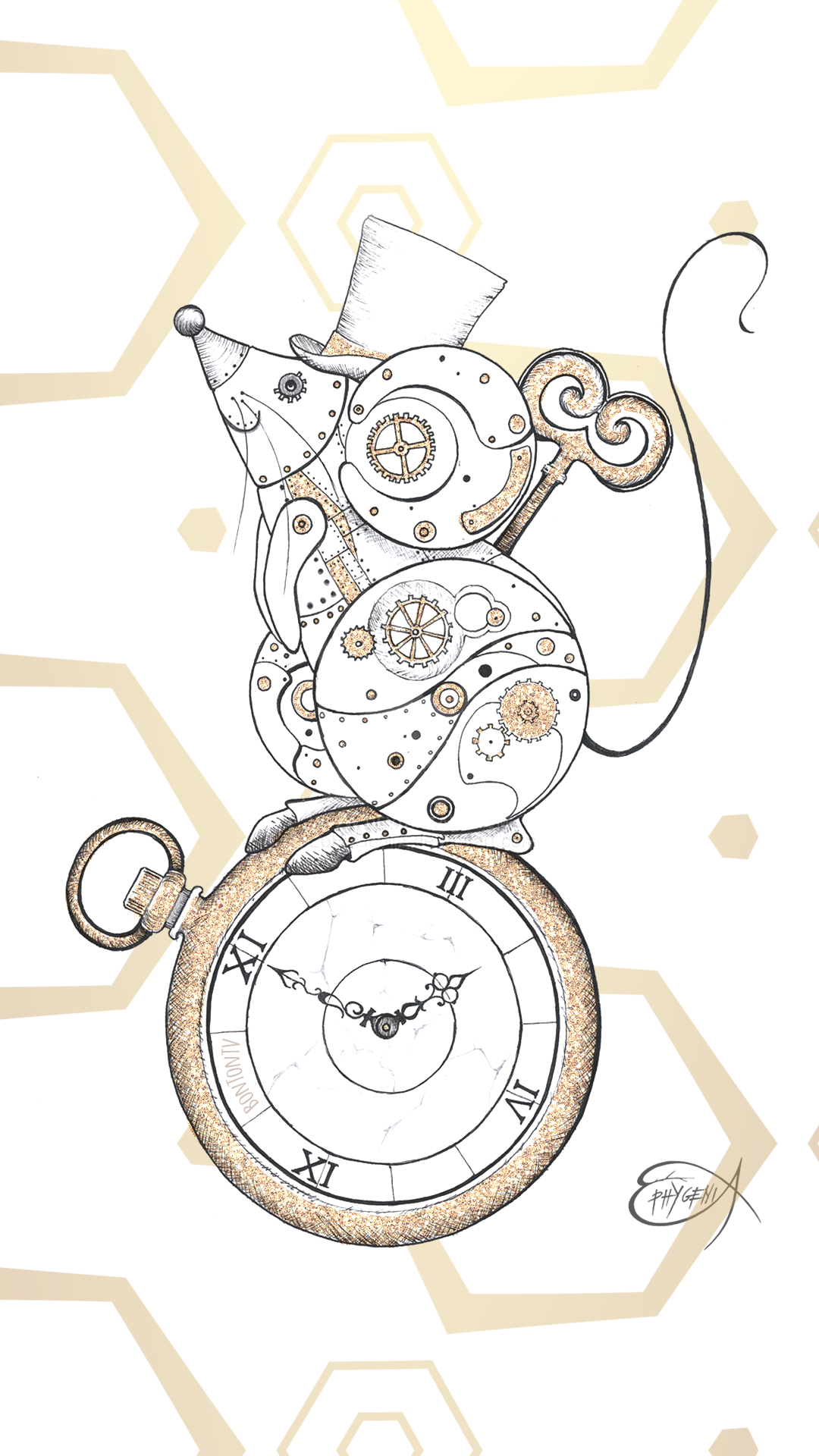Phone Wallpapers Hd Gold Clockwork Mouse Steampunk By Bonton Tv Free Backgrounds 1080x1920 Wa Steampunk Iphone Wallpaper Iphone Wallpaper Phone Wallpaper