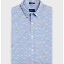 Photo of Gant Short Sleeve Micro Surfer Shirt (Blue) Gant