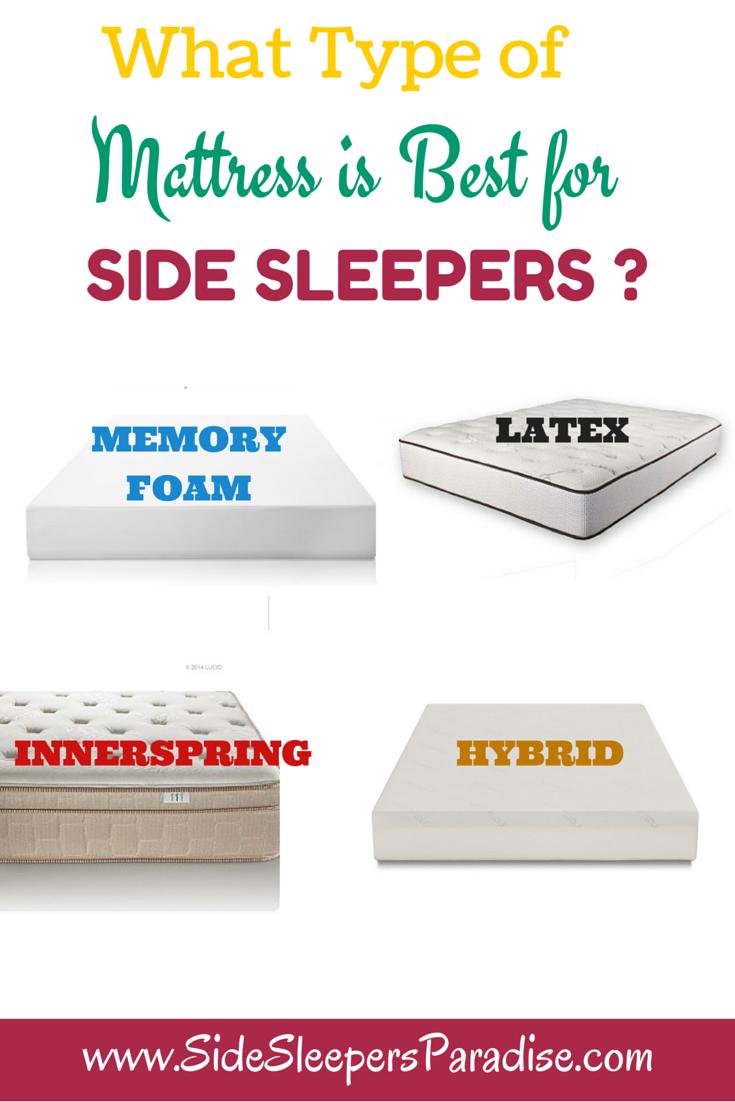 Best Type Of Mattress Side Sleeping Side Sleeper Best Mattress