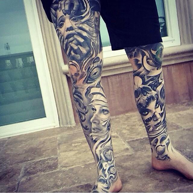 ebbd44d793637 Dope leg piece. Dope leg piece Tattoo Legs, Thigh Tattoo Men, Full Leg  Tattoos ...