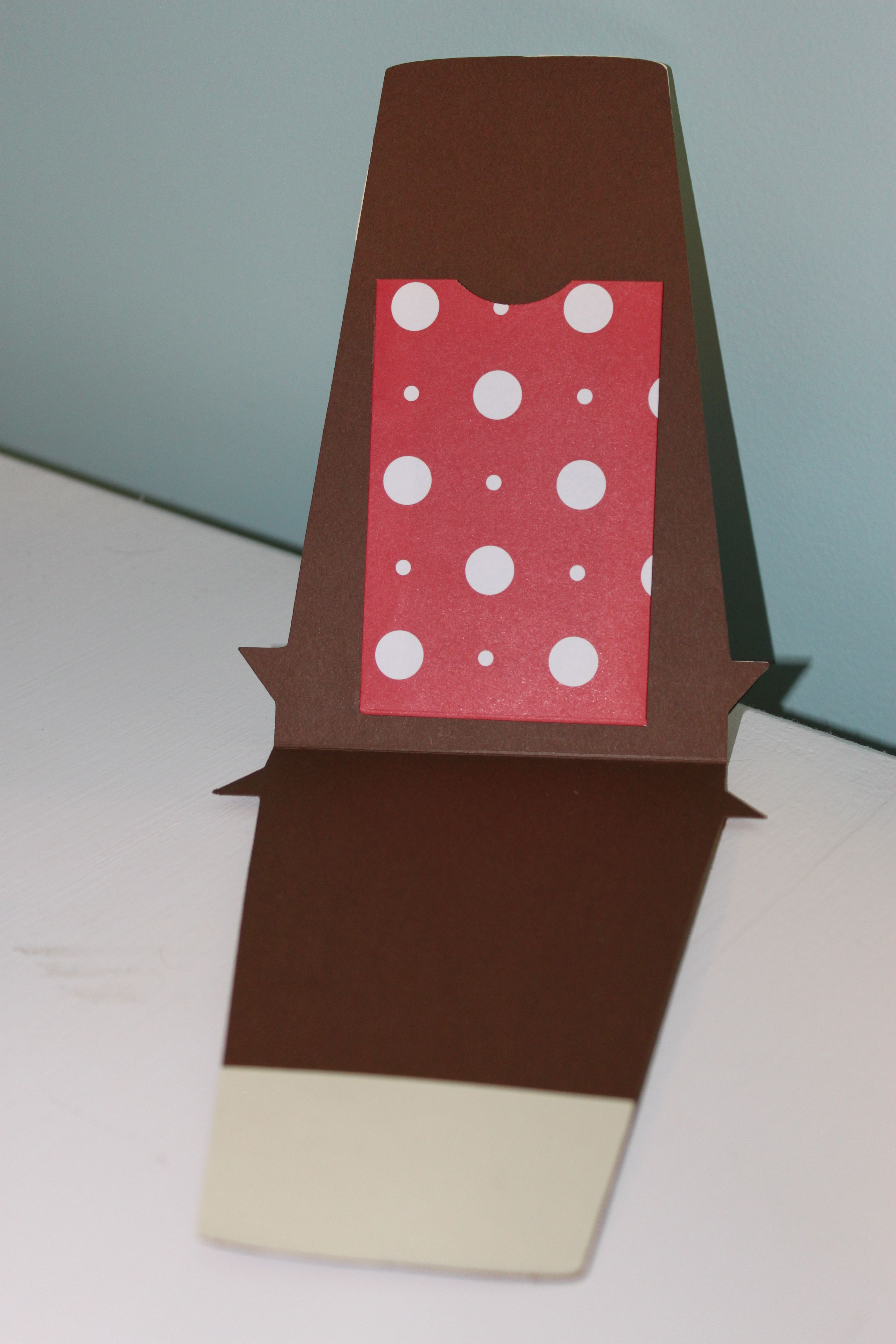 Coffee gift card holder christmas created with love you