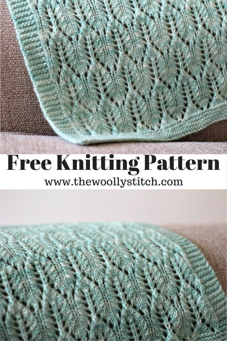 This knit blanket pattern is a stunner it features lace knitting for ...