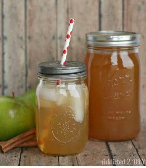 Idea for drinks make from jam jars
