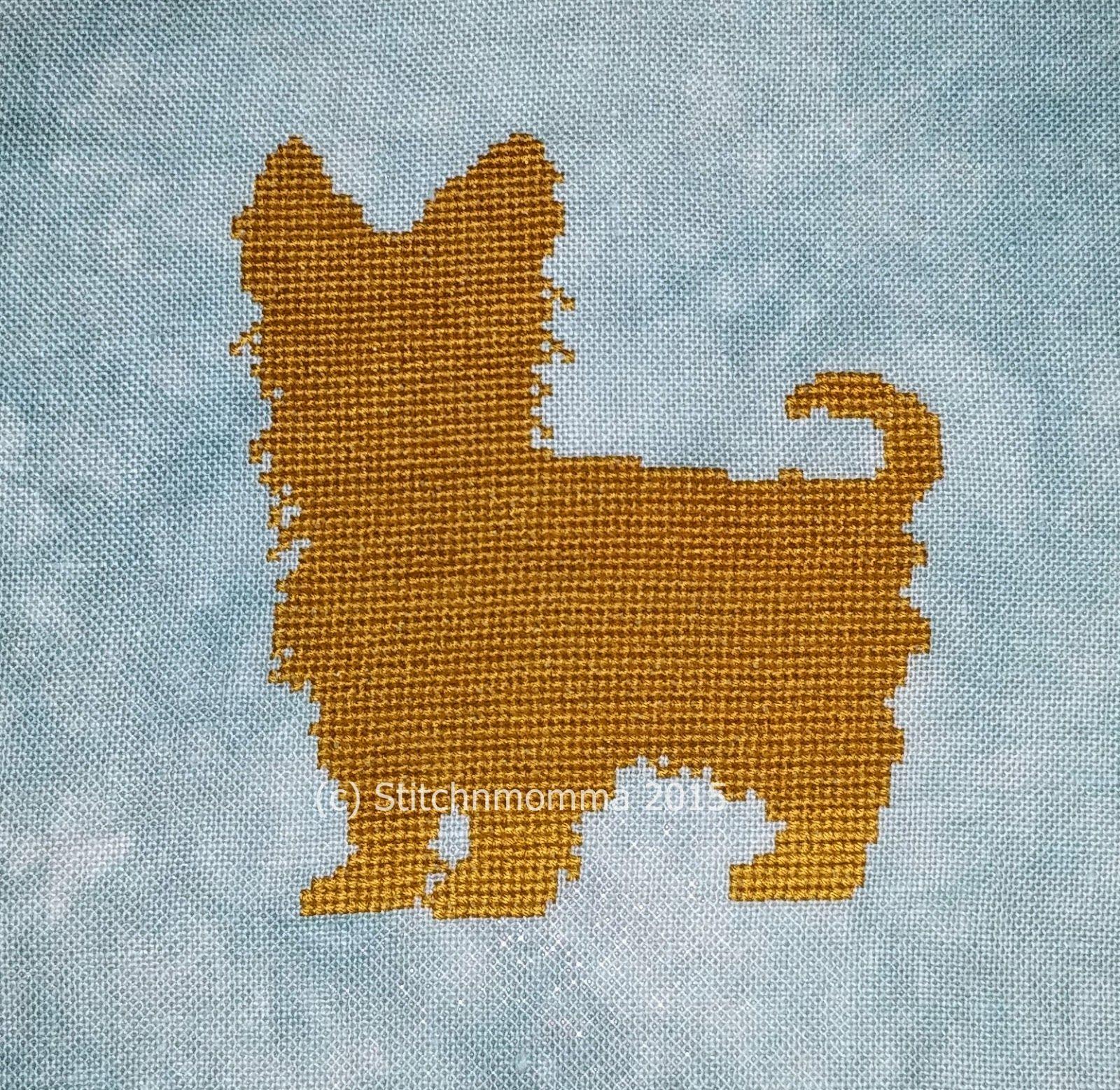Yorkshire Terrier (Yorkie) Silhouette Cross Stitch