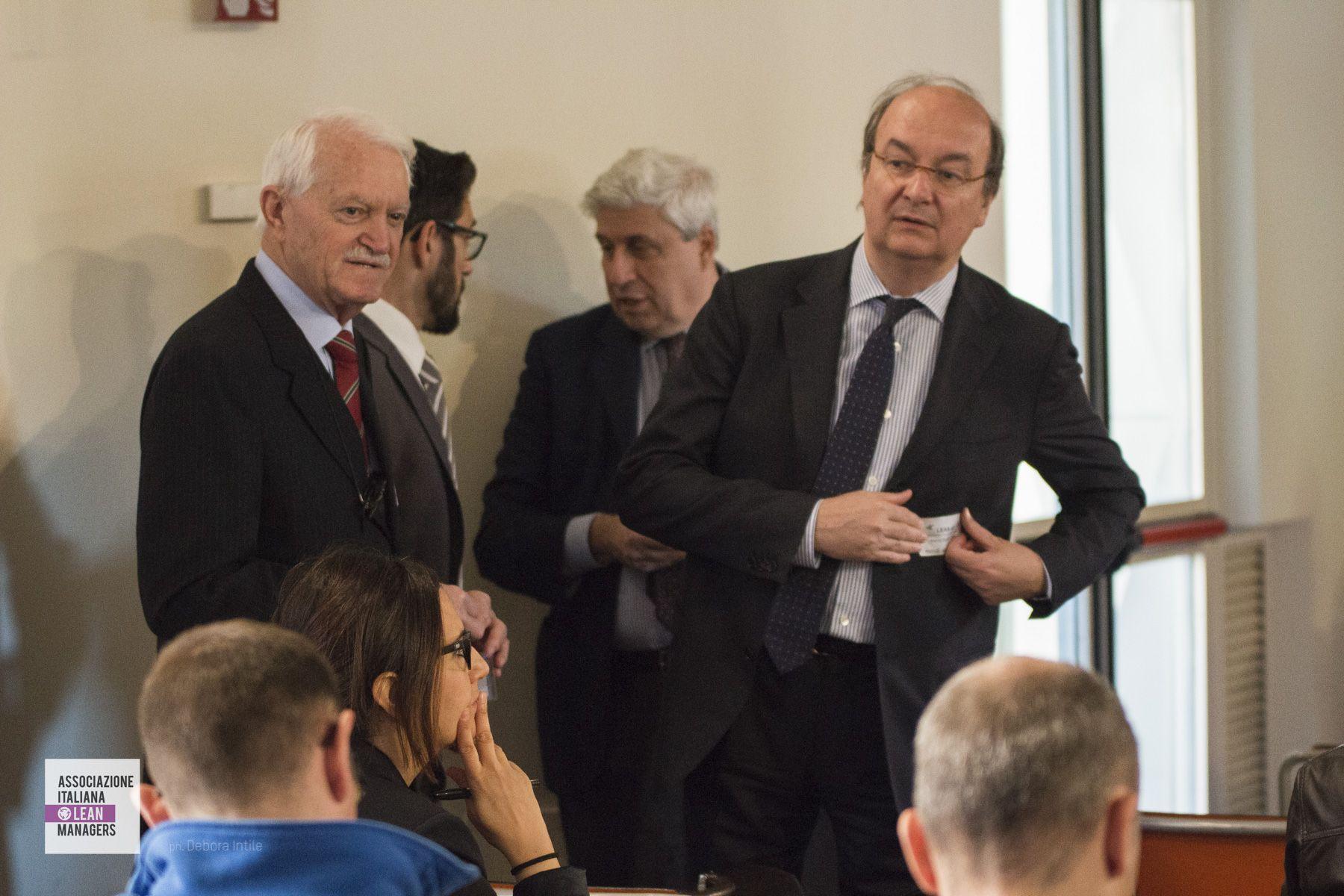 Emilio Di Cristofaro (AILM Milano); Roberto Golfetto (Ilcam spa e AILM Nord Est); Nicolò Pascale Guidotti Magnani e Marco Diotalevi (vice presidente AILM)