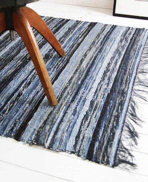 rugs recycling jeans interior design