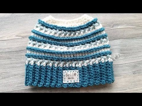 Crocheted Katniss Messy Bun Hat - YouTube | Crochet hats | Pinterest ...