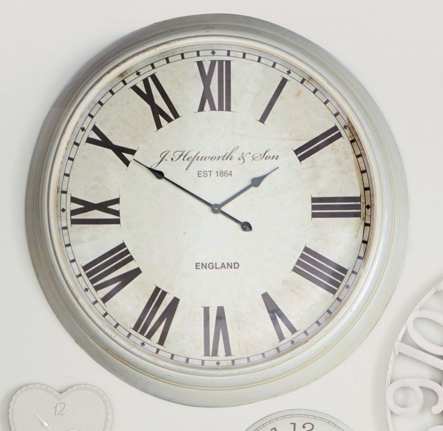 Extra Large Cream Wall Clock From Next