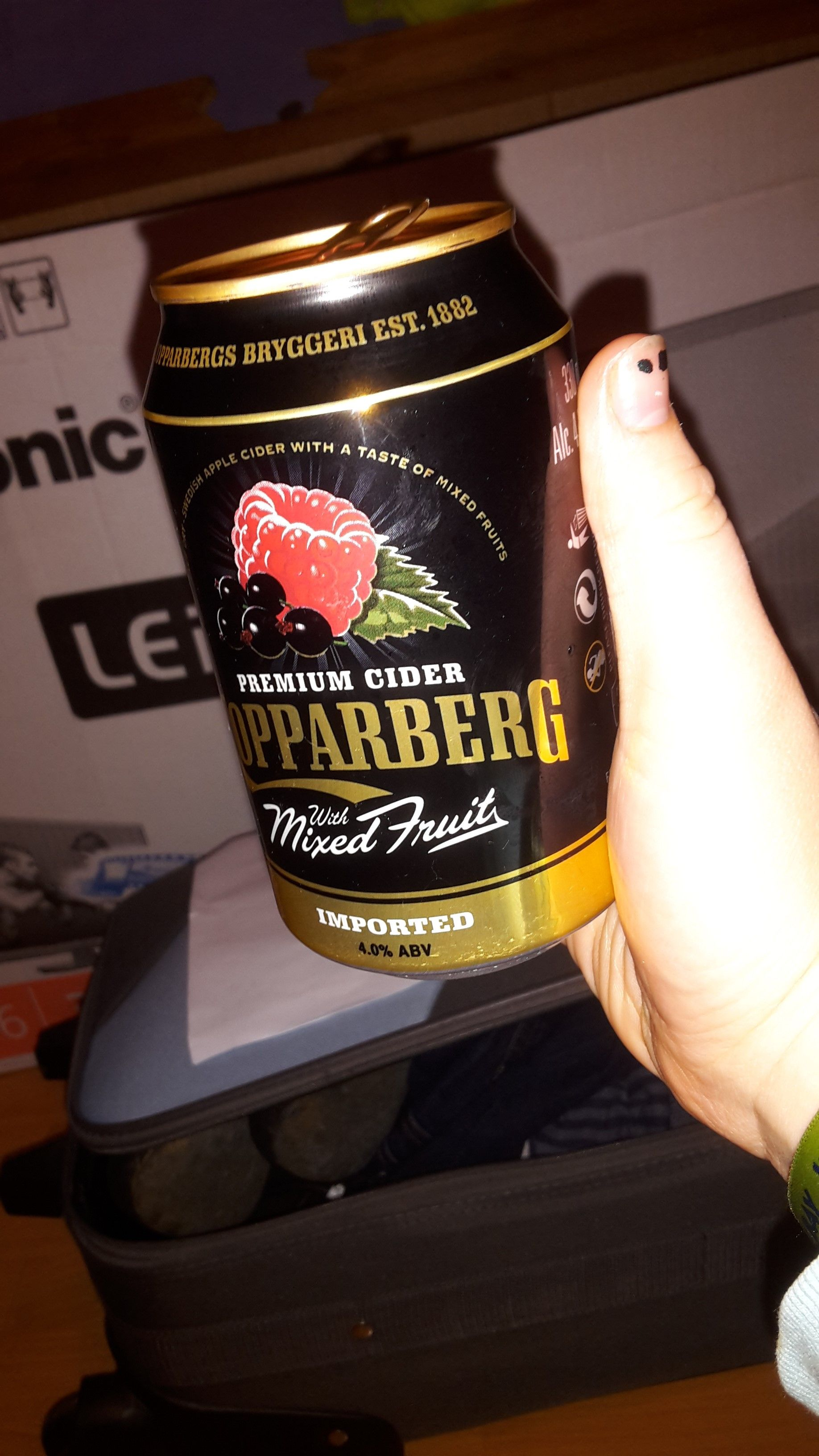 Picture 104 - (17th November 2014) Ahhh Monday! Still tired from the weekend. Got home and decided to indulge in a Kopparberg Mixed Fruits.