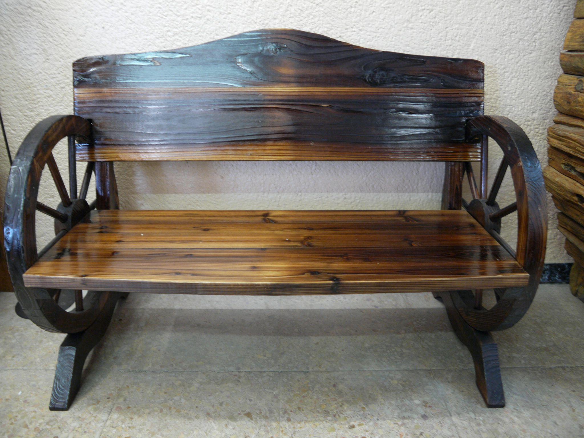 Banco rustico madera home pinterest banco r stico bancos y madera - Banco de madera rustico ...