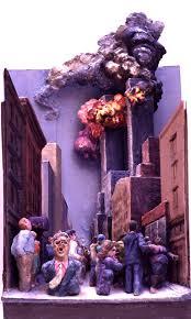 Twin Towers Ablaze by Raymond Mason