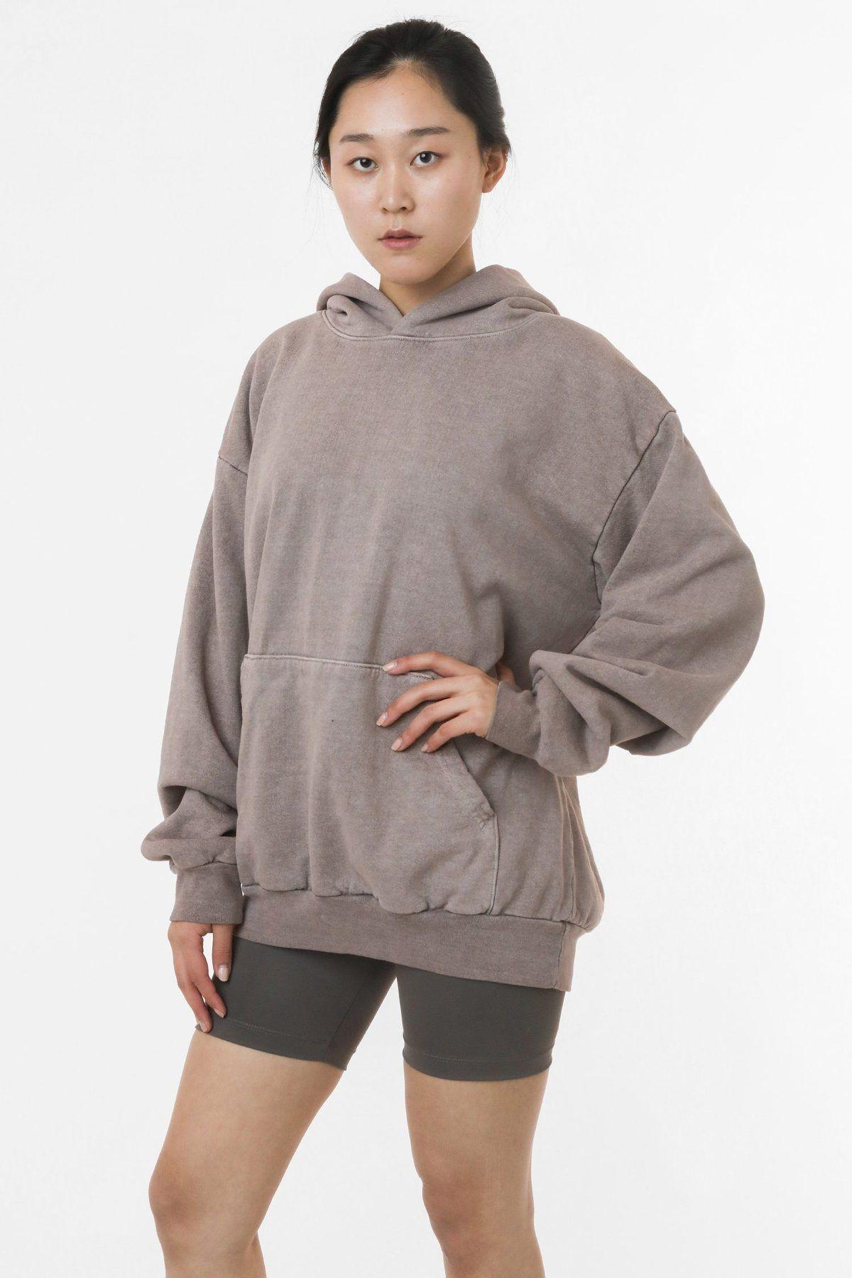 Hf09gd Unisex Pigment Dye 14oz Heavy Fleece Hooded Pullover Sweatshirt In 2020 Hooded Pullover Sweatshirts Fleece Hooded Sweatshirt