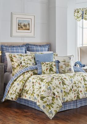 Waverly  Live Artfully Comforter Set - Linen - Queen