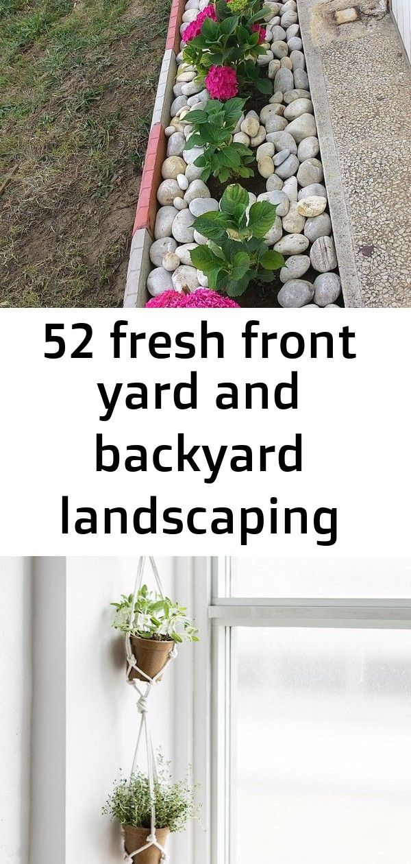 52 fresh front yard and backyard landscaping ideas for 2019 1 #hangingherbgardens