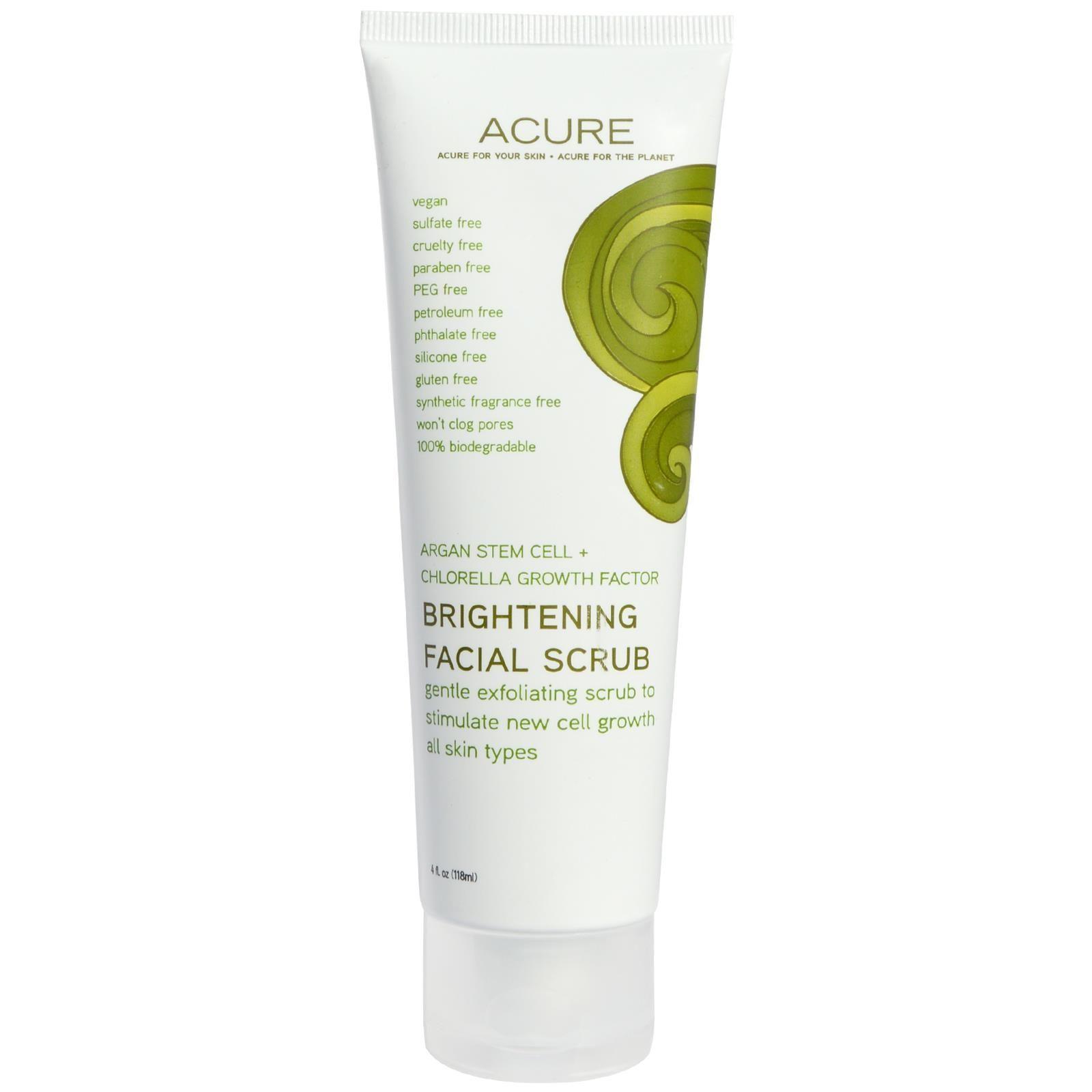 Acure Organics Brightening Facial Scrub #ClayFaceMask