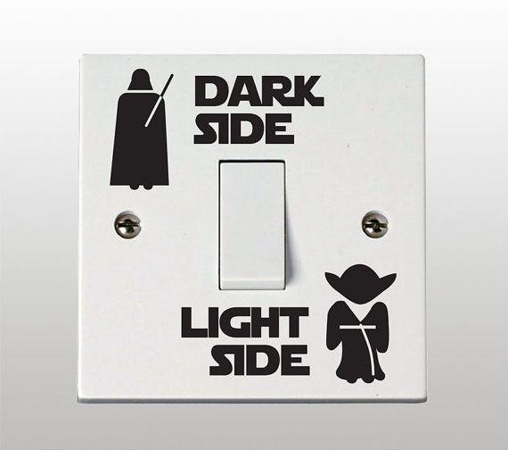 Zockerzimmer gestalten  Star Wars Dark Side - helle Seite Lichtschalter Vinyl Sticker ...
