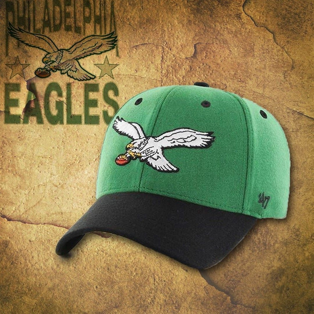 055cec9874fd1 Show love for the birds playing out of Philadelphia with this Philadelphia  Eagles retro two-