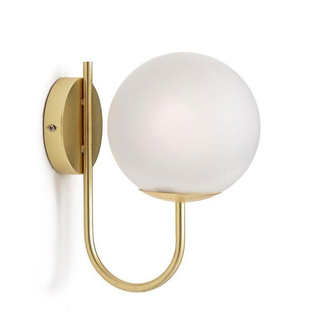 L applique opaline et métal doré Moricio Inspirée de la tendance