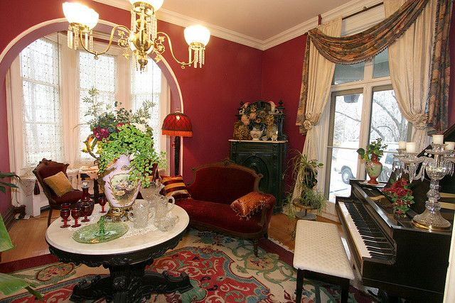 Parlor Social Area Inspiration I Like The Addition Of A Piano Nice For Wine And Cheese In The Late A Victorian Living Room Victorian Rooms Victorian Interior