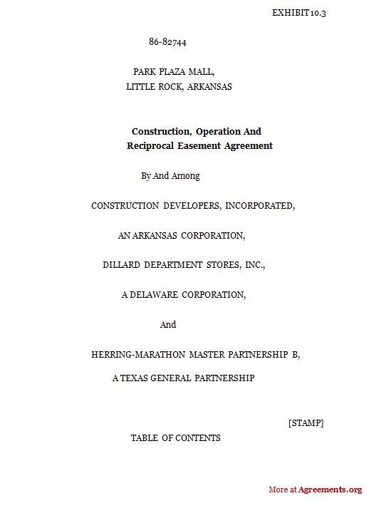 Easement Agreement Sample Images  Easement Agreement Sample