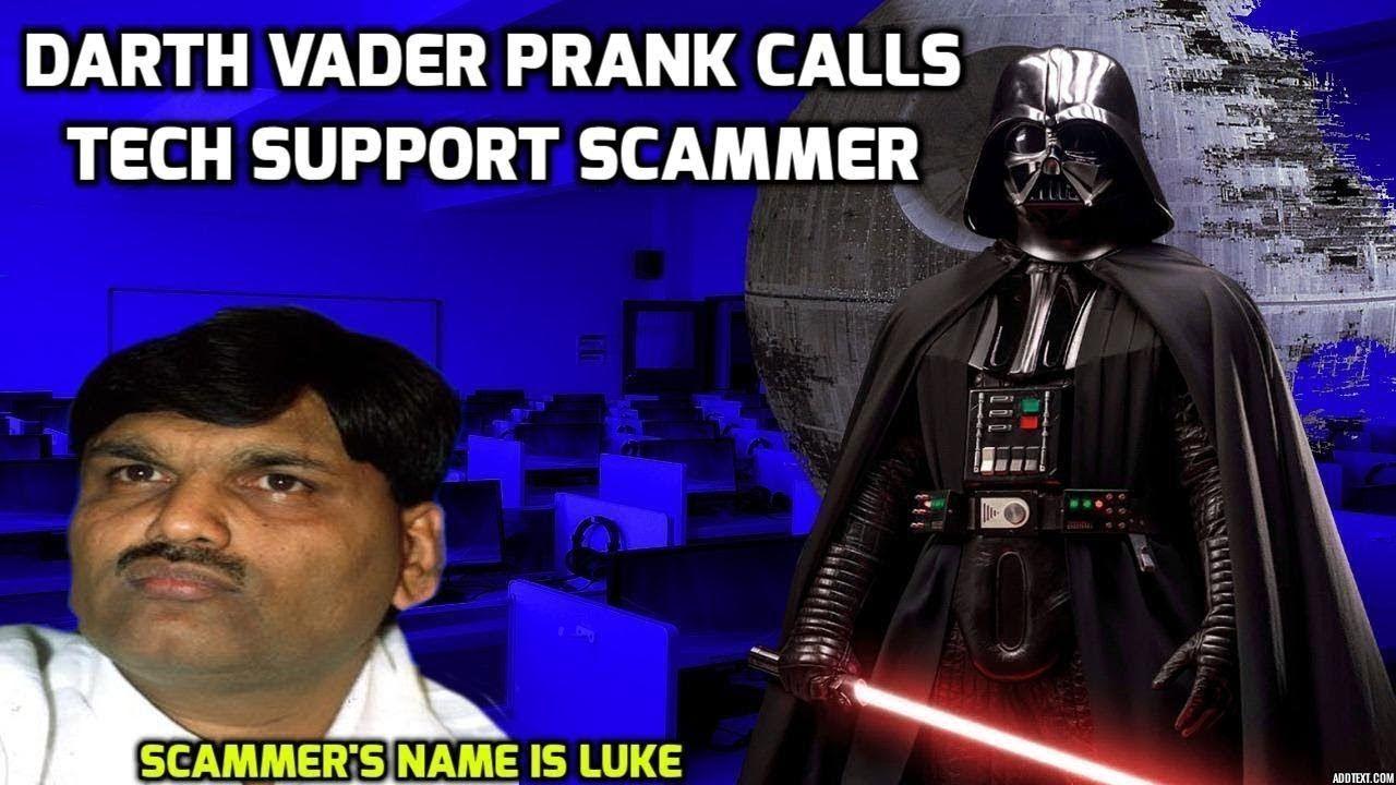 Darth Vader Prank Calls Microsoft Scammer Prank calls