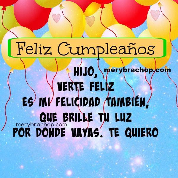 feliz+cumpleanos+imagen+hijo+tarjeta jpg (600 u00d7600) tarjeta Pinterest Happy birthday