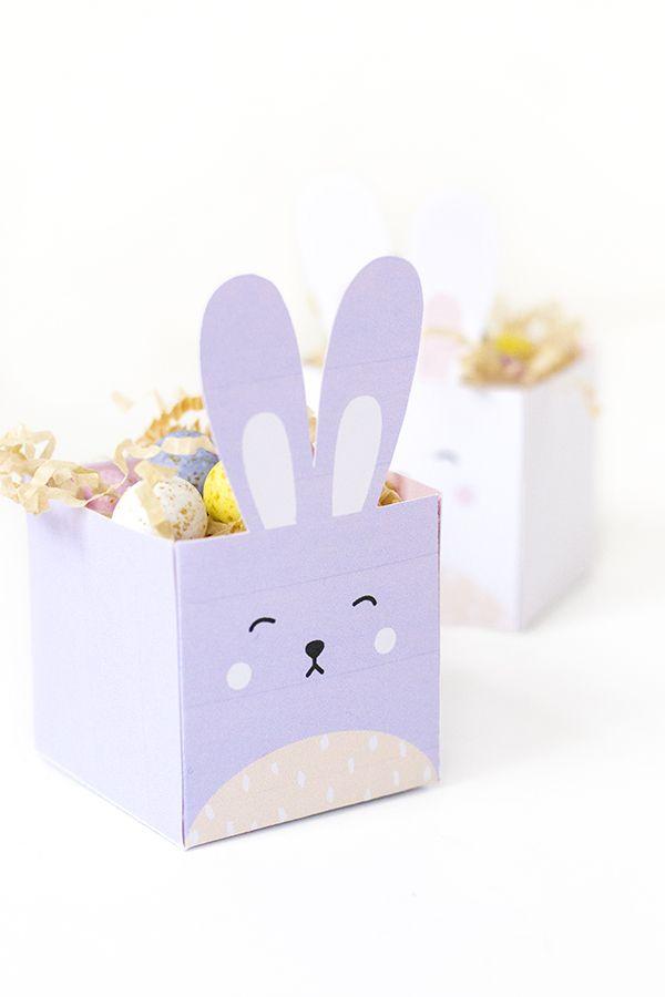 Diy printable easter bunny boxes negle Choice Image