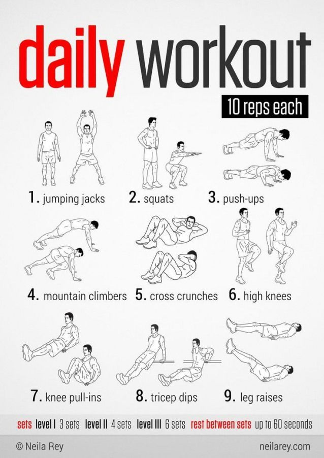 Easy Daily Workout. This would be great to do during the holidays when fitting in a long workout is...