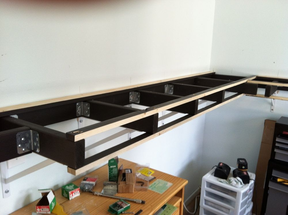 supporting a shelf layout model railroader magazine model rh pinterest com model train shelving for 0 scale model train shelf layouts plans