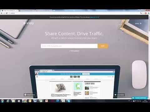 Comment utiliser l'application gratuite Snip.ly pour partager du contenu et augmenter rapidement le trafic qualifié de votre site et générer plus de leads.  Retrouvez tous nos conseils sur notre blog  http://www.my-marketing-manager.com/les-filles-du-marketing/ Nos formations en ligne pour entreprises > http://www.formation-marketing-enligne.fr/formation-ligne-reseaux-sociaux/