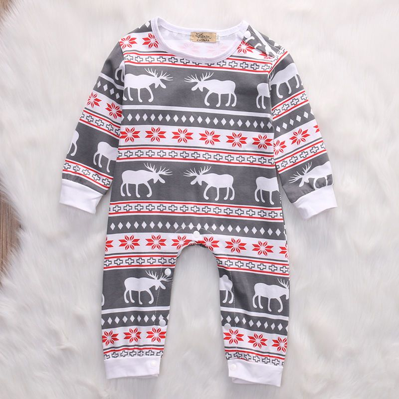 Moose Romper Winter Baby Clothes Baby Christmas Outfit Christmas Baby Romper