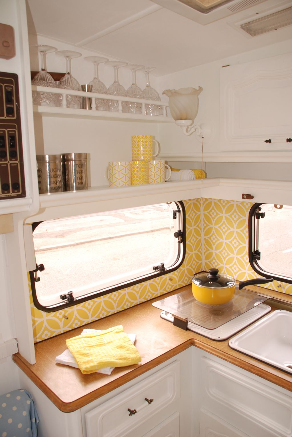 Caravan Makeover — take one ugly little touring caravan and ...