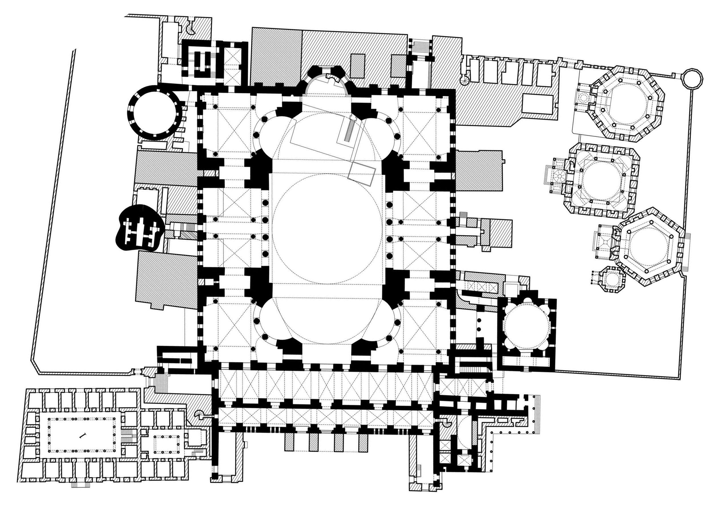Hagia Sophia Isidore Of Miletus Anthemius Of Tralles Architecture Plan Hagia Sophia How To Plan