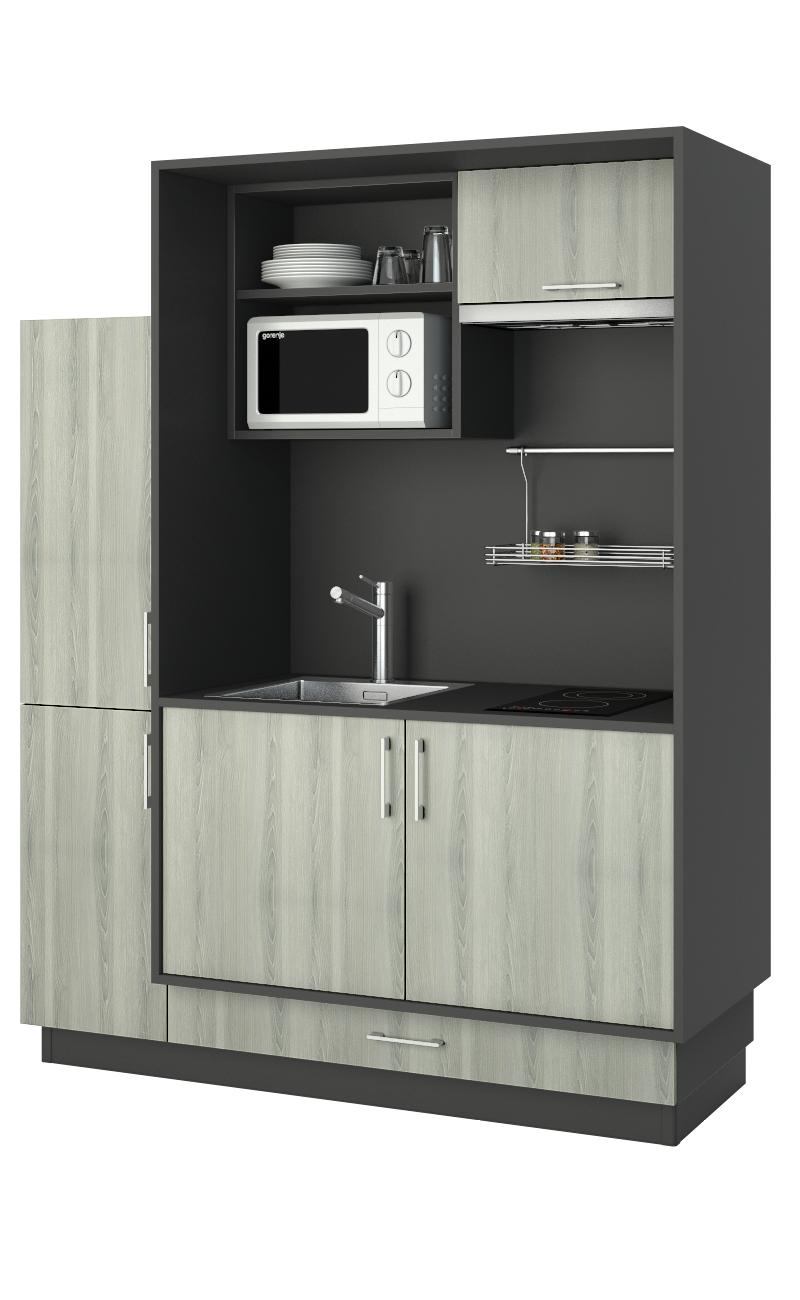une mini cuisine tendance et fonctionnelle pour équiper un studio ou
