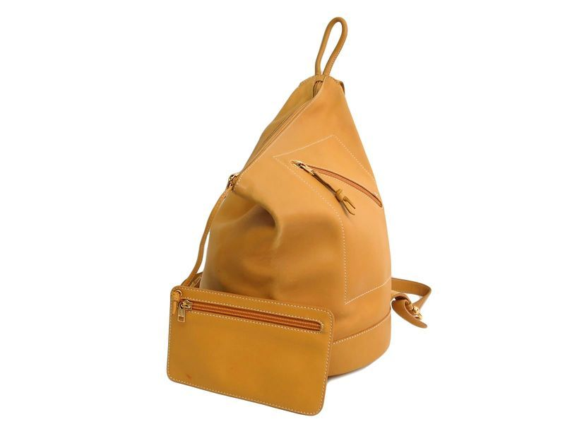 #LOEWE Backpack Leather Yellow (BF109647): #eLADY global accepts returns within 14 days, no matter what the reason! For more pre-owned luxury brand items, visit http://global.elady.com