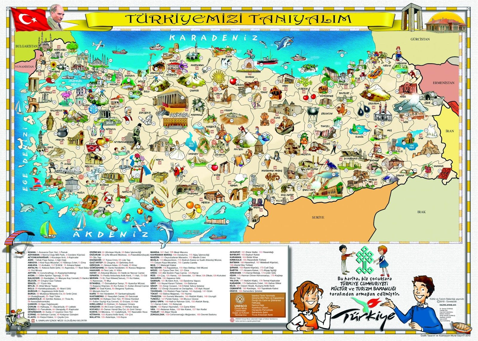 attractions maps of tourism attractions in turkey maps : New Zone ...