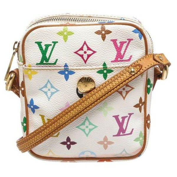 62f129fb0933 Pre-Owned Louis Vuitton White Multicolor Rift Crossbody Handbag ( 505) ❤  liked on