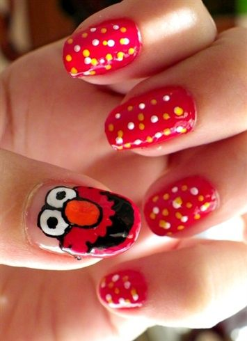 Elmo By Remicolour Nail Art Gallery Nailartgalleryilsmag By